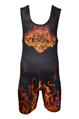 TITAN Orange Inferno Sublimated Singlet (размер XS, до 52 кг)